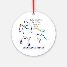 Endurance Riding Ornament (Round)