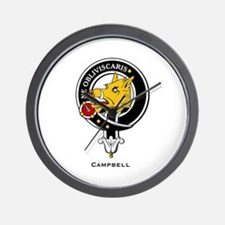 Campbell Clan Crest Badge Wall Clock
