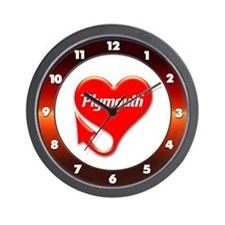 Plymouth Heart - Weathered Wall Clock