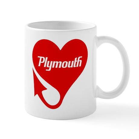 Plymouth Heart - Weathered Mug