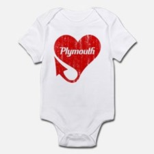 Plymouth Heart - Weathered Infant Bodysuit