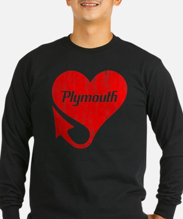 Plymouth Heart - Weathered T