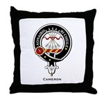Cameron Clan Crest Badge Throw Pillow