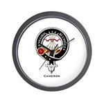 Cameron Clan Crest Badge Wall Clock