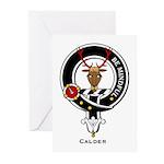 Calder Clan Crest Badge Greeting Cards (Package of