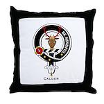 Calder Clan Crest Badge Throw Pillow