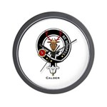 Calder Clan Crest Badge Wall Clock