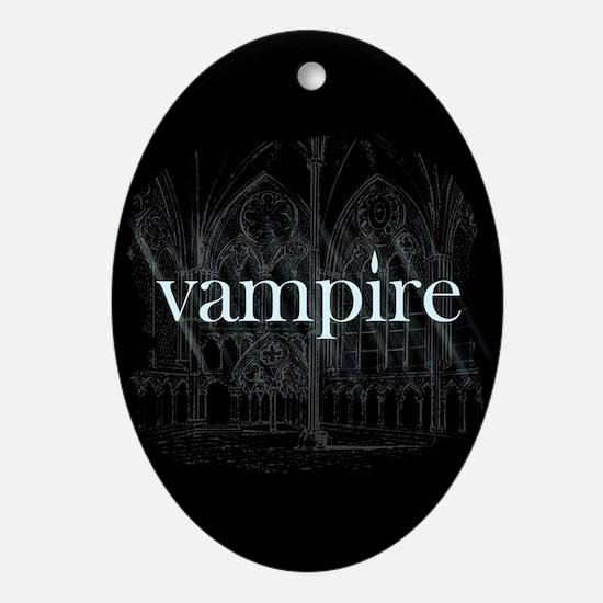 Vampire Gothic Ornament (Oval)