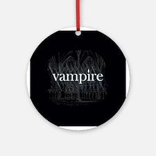 Vampire Gothic Ornament (Round)