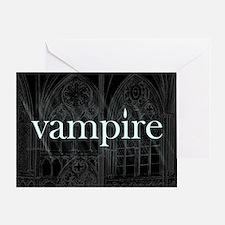 Vampire Gothic Greeting Card