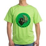 Earth Uplift Center Basic Green T-Shirt