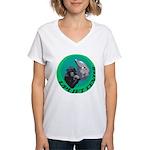 Earth Uplift Center Basic Women's V-Neck T-Shirt