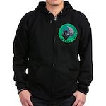 Earth Uplift Center Basic Zip Hoodie (dark)