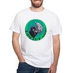 Earth Uplift Center Basic White T-Shirt