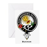 Buchan Clan Crest Badge Greeting Cards (Package of