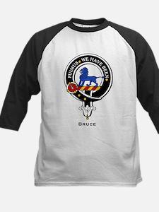 Bruce Clan Crest Badge Kids Baseball Jersey