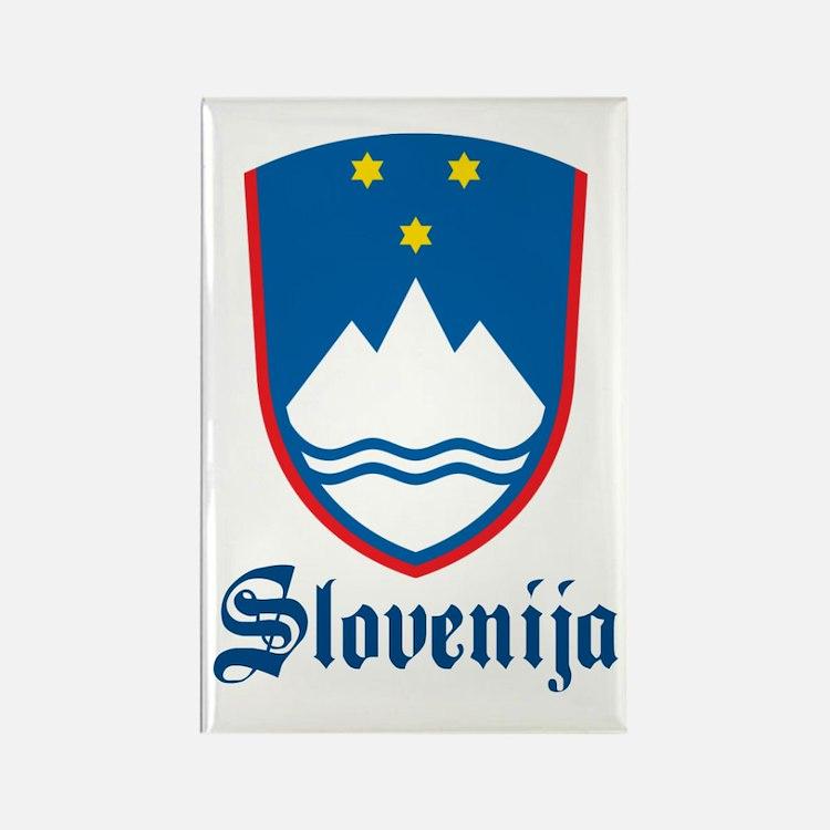Slovenia Rectangle Magnet
