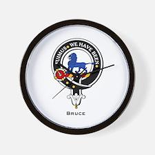 Bruce Clan Crest Badge Wall Clock