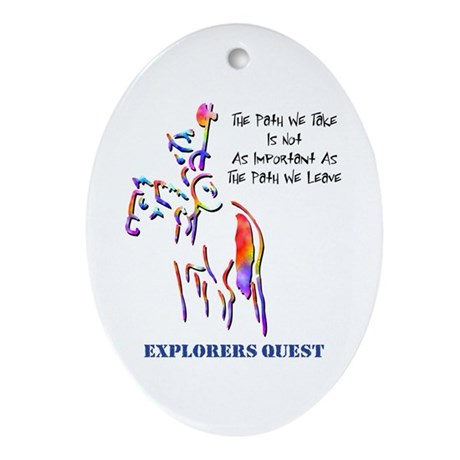 Explorers Quest Oval Ornament