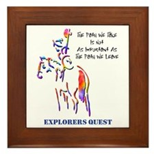 Explorers Quest Framed Tile