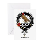 Boswell Clan Crest Badge Greeting Cards (Package o