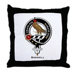 Boswell Clan Crest Badge Throw Pillow
