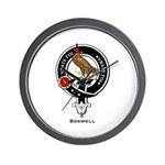 Boswell Clan Crest Badge Wall Clock