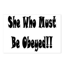 Cute She who must be obeyed Postcards (Package of 8)