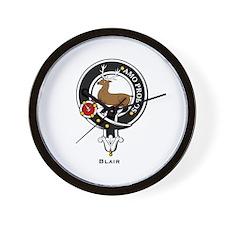 Blair Clan Crest Badge Wall Clock