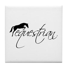 equestrian w/jumping horse Tile Coaster
