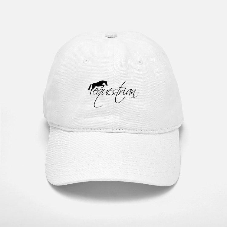 Equestrian w/ Jumping Horse Baseball Baseball Cap