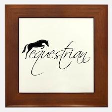 Equestrian w/ Jumping Horse Framed Tile