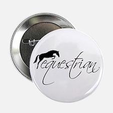 "Equestrian w/ Jumping Horse 2.25"" Button"