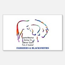 Farriers & Blacksmiths Rectangle Decal