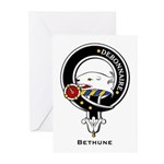 Bethune Clan Crest Badge Greeting Cards (Package o