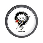Bethune Clan Crest Badge Wall Clock