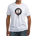 Bell Clan Crest Badge Fitted T-Shirt