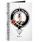 Bell Clan Crest Badge Journal