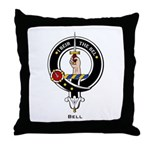 Bell Clan Crest Badge Throw Pillow