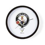 Bell Clan Crest Badge Wall Clock