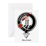 Balfour Clan Crest Badge Greeting Cards (Package o