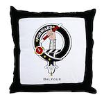 Balfour Clan Crest Badge Throw Pillow