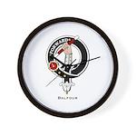 Balfour Clan Crest Badge Wall Clock