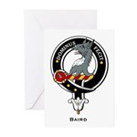 Baird Clan Crest Badge Greeting Cards (Package of