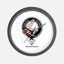 Armstrong Clan Crest Badge Wall Clock