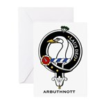 Arbuthnott Clan Crest Badge Greeting Cards (Packag