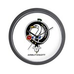 Arbuthnott Clan Crest Badge Wall Clock