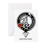 Anstruther Clan Crest Badge Greeting Cards (Packag