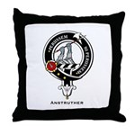 Anstruther Clan Crest Badge Throw Pillow