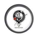 Anstruther Clan Crest Badge Wall Clock